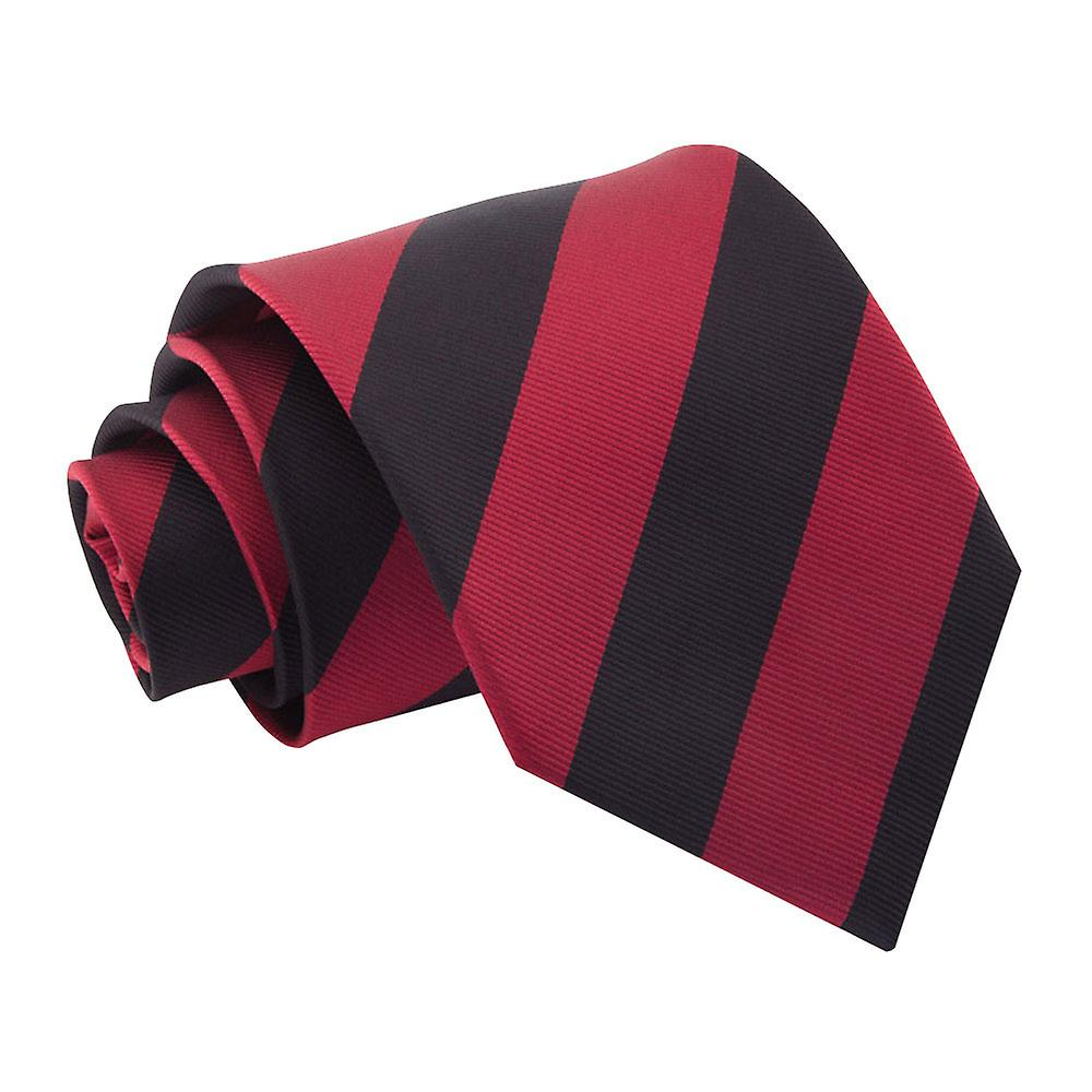 Burgundy & Black Striped Tie