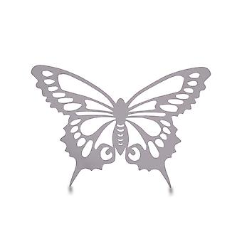 Small Reflective Finish Steel Butterfly Wall Art