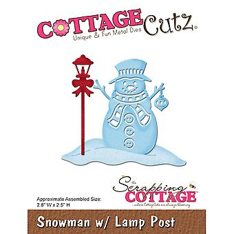 CottageCutz Die-Snowman W/Lamp Post, 2.8