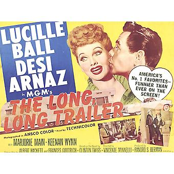 The Long Long Trailer Top L-R Lucille Ball Desi Arnaz On Title Lobbycard 1954 Movie Poster Masterprint