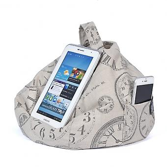 iBeani iPad, Tablet & eReader Bean Bag Stand / Cushion - Vintage Clocks