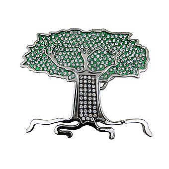 Rhinestone Encrusted Tree Of Life Belt Buckle