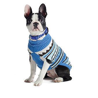 Muddy Paws Alpine Sweater Blue Mix Small