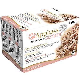 Applaws kat Tin Senior Multi Pack 6x70g (pakke med 4)