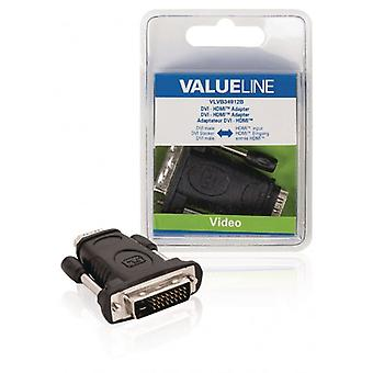 ValueLine DVI-HDMI adapter DVI-m-HDMI, czarny