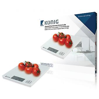 König Kitchen Scales White LCD