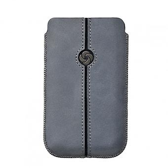 SAMSONITE DEZIR Mobile bag leather Grey to tex iP4