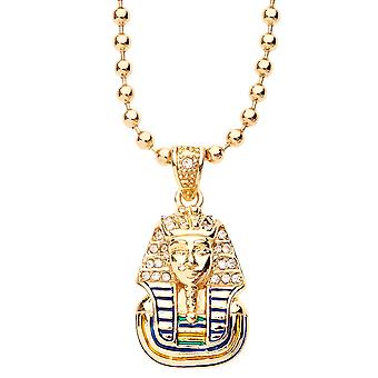 Iced Out Bling Fashion Kette - MICRO PHARAOH KING gold