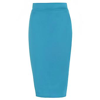 Turquoise Pencil Skirt UK SIZE 8