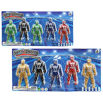 Import Set 5 Robots Warriors 10 Cm (Toys , Action Figures , Dolls)