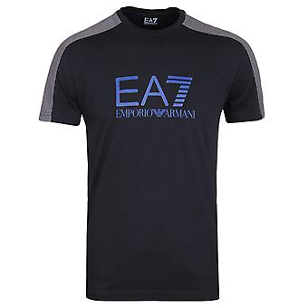 EA7 Night Blue Train Tritonal Crew Neck T-Shirt
