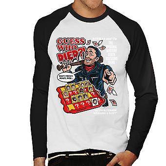Guess Who Died Negan Walking Dead Men's Baseball Long Sleeved T-Shirt