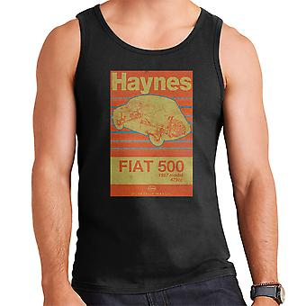 Haynes Workshop Manual Fiat 500 479cc Blue Distressed Stripe Men's Vest
