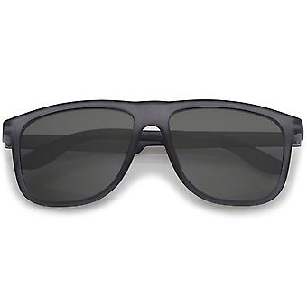 Lifestyle Rubberized Matte Finish Flat Top Square Sunglasses 55mm