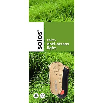 solos relax anti stress light 3/4 length leather insoles sizes 36-46