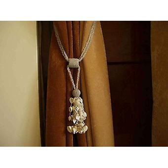 Pair - Creme Perlen dekorative handgefertigte Raffhalter / Tassel / Vorhang Holdback