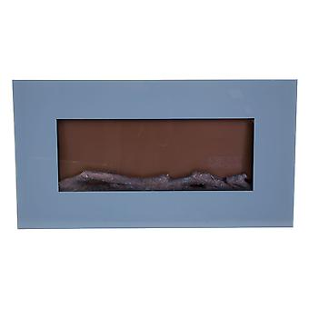 Charles Bentley Large Wall Mounted Electric Fire with Remote Control - Grey