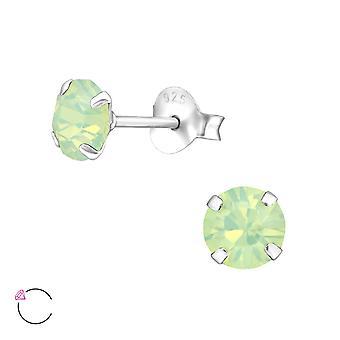 Round Crystal From Swarovski® - 925 Sterling Silver Ear Studs - W34640x