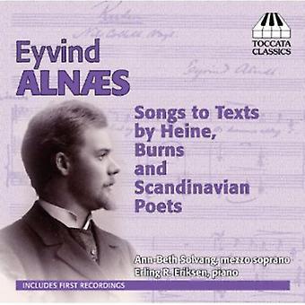 Alnaes Eyvind - Eyvind Alnaes: Sange til tekster af Heine, Burns & skandinaviske digtere [CD] USA import