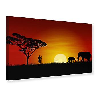 Canvas Print Afrikaanse Steppe olifant