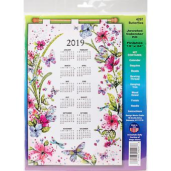 Design Works 2019 Calendar Felt Applique Kit-Butterflies DW4297