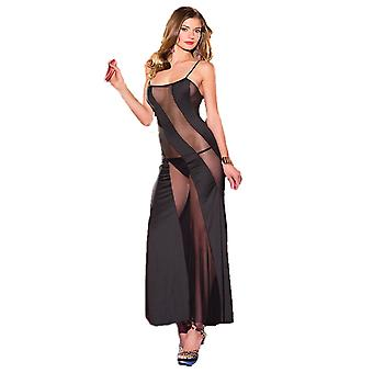 Be Wicked BW1445 1-Piece sheer diagonal mesh