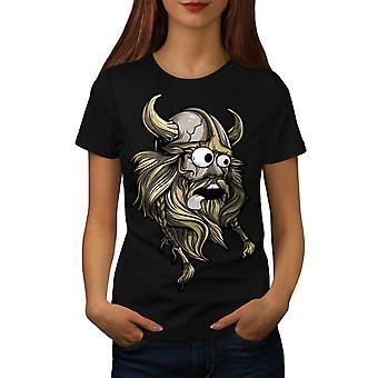 Scared North Joke Women BlackT-shirt | Wellcoda
