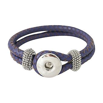 Leather Bracelet For Click Buttons Purple Kb0803