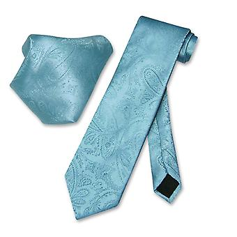 Vesuvio Napoli PAISLEY NeckTie & Handkerchief Matching Tie Set