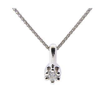 Christian white gold diamond pendant