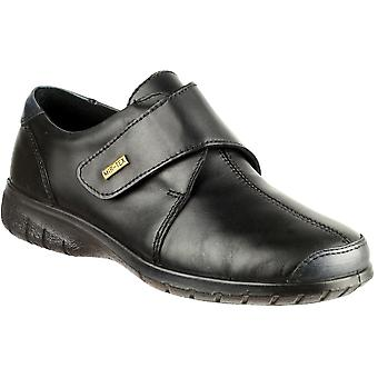 Cotswold Ladies Cranham Touch Fastening Leather Waterproof Shoe Black