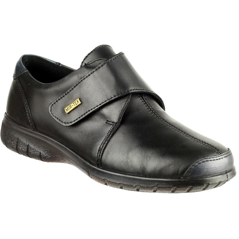 Cotswold Ladies Cranham Touch Fastening Leather Waterproof chaussures noir