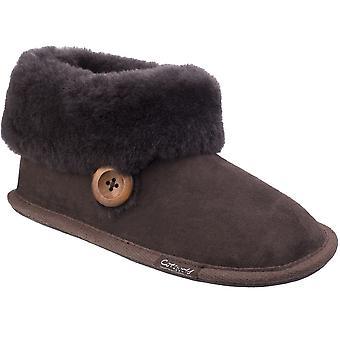 Cotswold Womens/Ladies Wotton Sheepskin Warm Premium Bootie Slippers