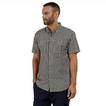 Regatta Herre Rainor Coolweave bomuld knappen ned kontrast Casual skjorte