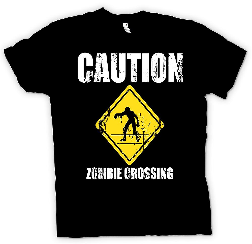 Womens T-shirt-Zombie Crossing - Funny - Horror