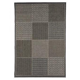 Outdoor carpet for Terrace / balcony carpet indoor / outdoor - for indoor and outdoor living room grey brown 135 x 190 cm