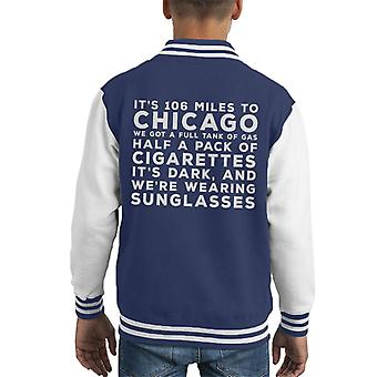 Blues Brothers Sonnenbrille Zitat Kid Varsity Jacket