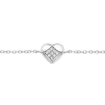 Hart - 925 Sterling zilveren ketting armbanden - W35078X