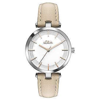 s.Oliver Damen Uhr Armbanduhr Leder SO-3450-LQ