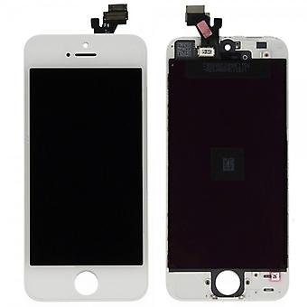 Unidad completa de pantalla LCD de panel táctil para Apple iPhone 5 blanco