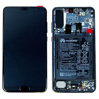 Huawei Display LCD Einheit + Rahmen für P20 Pro Service Pack 02351WTU Blau / Twilight Neu