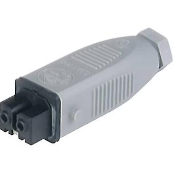 Mains connector STAK Series (mains connectors) STAK Socket, straight Total number of pins: 2 + PE 16 A Grey Hirschmann S
