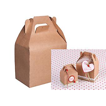 4 Medium Kraft Food Safe Gift Boxes to Decorate | Christmas Party Treat Boxes