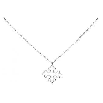 Gemshine - damer - cross - hänge - halsband - 925 Silver - 3 cm