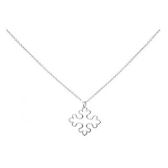 Gemshine - damas - Cruz - colgante - collar - plata 925 - 3 cm