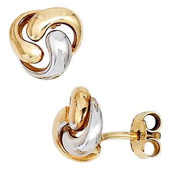 Ohrringe Ohrstecker 333 Gold Gelbgold teilrhodiniert Ohrring gold Bouton