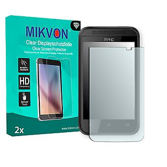 HTC 102e Screen Protector - Mikvon Clear (Retail Package with accessories)