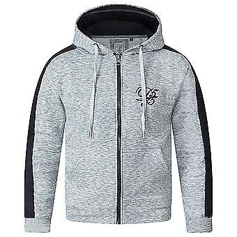 Duke D555 Mens Ronnie Big Tall King Size Full Zip Long Sleeve Hoody Jacket -Grey