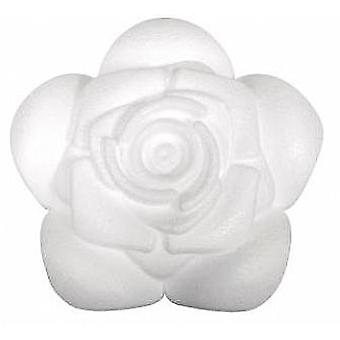 90mm Polystyrene Rose Shape to Decorate | Styrofoam Shapes for Crafts
