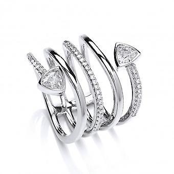 Cavendish französischen CZ stilisiert Serpentine Ring